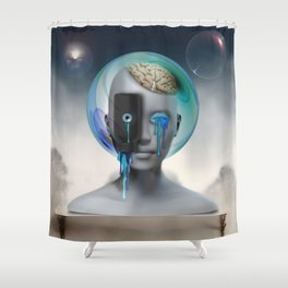 Not Your Ancient Egyptian Grandmother's Apothecary Shower Curtain