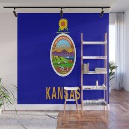 flag Kansas-america,usa,middlewest,Sunflower State, Kansan,Topeka,Wichita,Overland Park,Wheat State Wall Mural