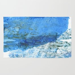 Corn flower blue colorful watercolor pattern Rug
