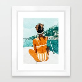 Solo Traveler Framed Art Print