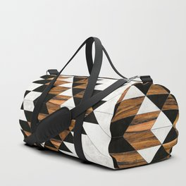 Urban Tribal Pattern No.9 - Aztec - Concrete and Wood Duffle Bag