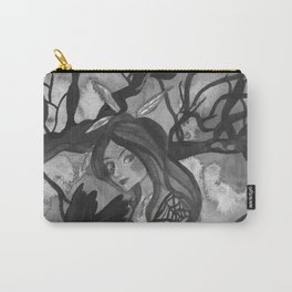 Raven Witch - Black & White Carry-All Pouch