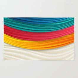 My Colorful Curtain Rug