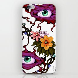 Flower of the Eyes (colorized) iPhone Skin