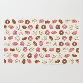 ALL the donuts! Rainbow on Cream Rug