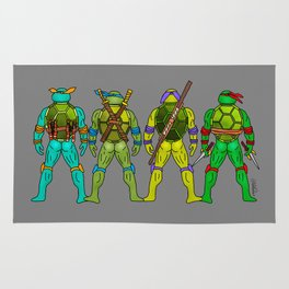 Superhero Butts - Turtles Rug