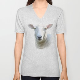Watercolor Sheep Unisex V-Neck