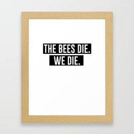 Eriel's Bee Mug Framed Art Print
