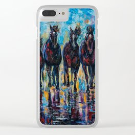 Roaming Free by OLenaArt/ Lena Owens Clear iPhone Case