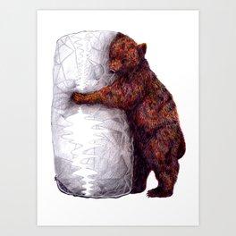 BEAR-rito Bear Hugs Art Print