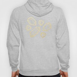 Black & Gold Crystal Pattern Hoody