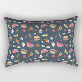 Yummy! (blue) Rectangular Pillow