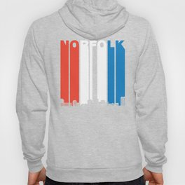 Red White And Blue Norfolk Virginia Skyline Hoody