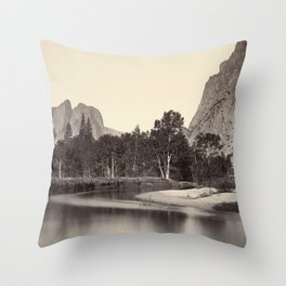 View from Camp Grove, Yosemite Throw Pillow