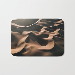 Lovers in the Sand - Aerial Landscape Photography Bath Mat