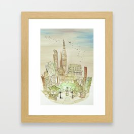City Scape-Union Square, NYC Framed Art Print