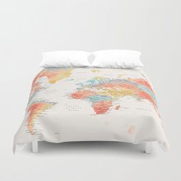World map duvet covers society6 gumiabroncs Image collections