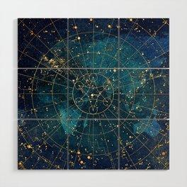 Star Map :: City Lights Wood Wall Art