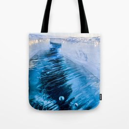 The crack of Baikal ice Tote Bag