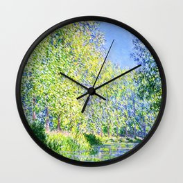 Monet: Bend in the River Ept Wall Clock