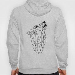 Geometric Howling Wild Wolf Hoody