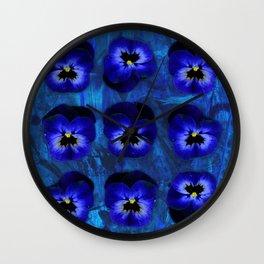 Deep Blue Velvet Wall Clock
