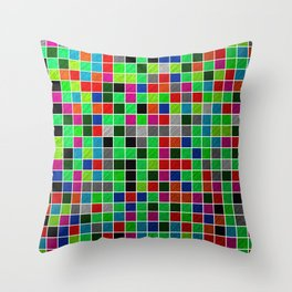 Metallic Colour Grid Throw Pillow