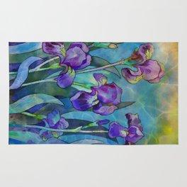 Fantasy Irises Rug