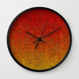 Flame Glitter Gradient Wall Clock