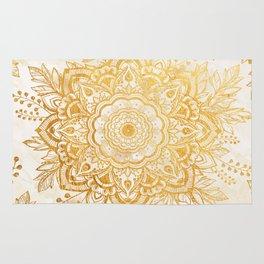 Queen Starring of Mandala-Gold Sunflower I Rug