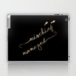 Mischief Managed (black) Laptop & iPad Skin