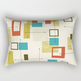 Mid Century Modern, Sputnik Pattern Rectangular Pillow