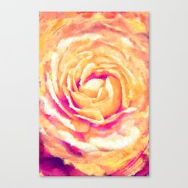 Abstract Colorful Rose Flower Artwork Canvas Print