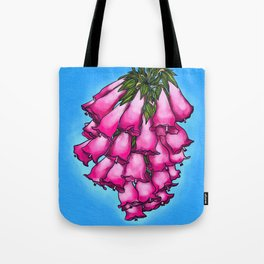 Pretty in Pink Bell Flowers Tote Bag