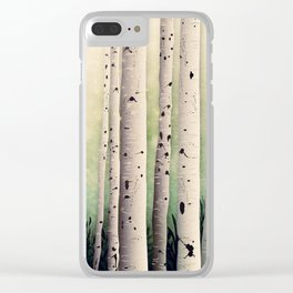 Birch wood at Midsummer Clear iPhone Case