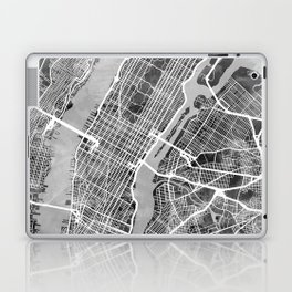 New York City Street Map Laptop & iPad Skin