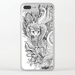 Cat dragon Clear iPhone Case