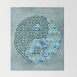 Yin Yang Ocean Spirit Throw Blanket