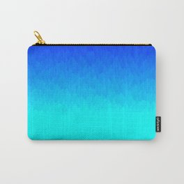 Blue ombre flames Carry-All Pouch