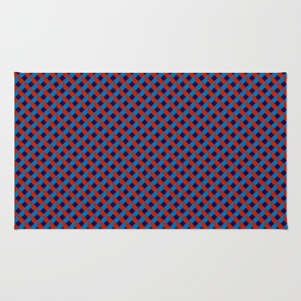 3d Red Blue Stereo Vision Rug by Ozorozo RUG9118236