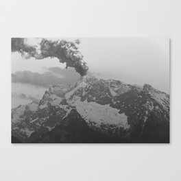 Volcano black and white Canvas Print