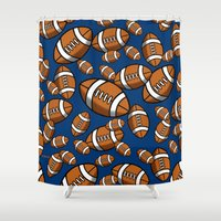rugby Shower Curtains featuring Rugby by joanfriends