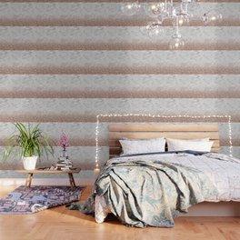 Bold ombre rose gold glitter - white marble Wallpaper