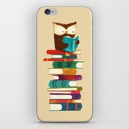 Owl Reading Rainbow iPhone Skin