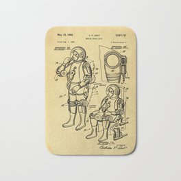 Mobile Space Suit Support Patent Drawing From 1956 Bath Mat