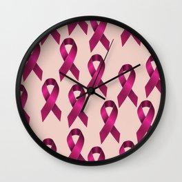 Satin pink ribbon Wall Clock
