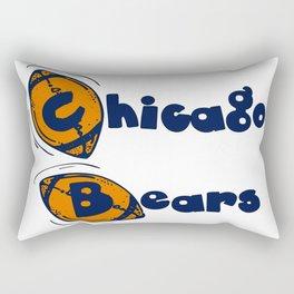 Da Bears Font Typography Rectangular Pillow