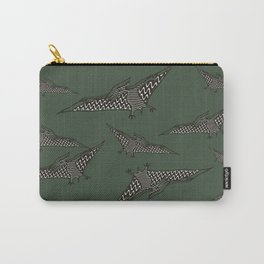 Pterosauria dark green Carry-All Pouch