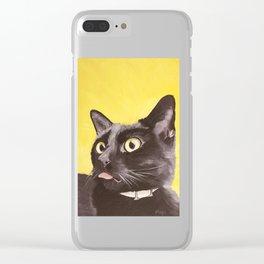 Cat Portrait #2 - Commissioner Gordon (2016) Clear iPhone Case