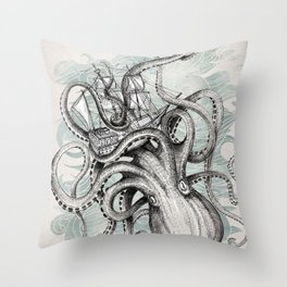 The Baltic Sea - Kraken Throw Pillow